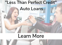 Ad to promote auto loans for members with not so perfect credit.